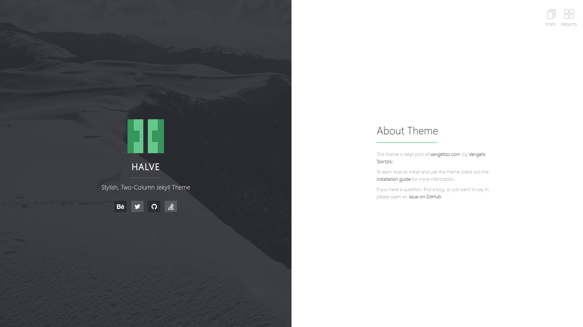Home Page of Halve